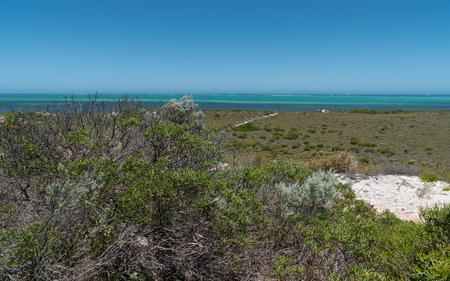 Coastal landscape close to Cervantes on a stormy day, Western Australia