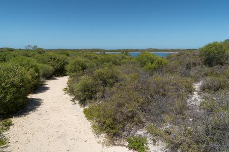 Trekking trail close to lake Thetis in the Nambung National Park, Western Australia