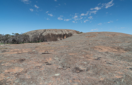On top of the spectacular Wave Rock, famous place in the outback of Western Australia