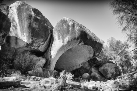 Geological formation close to the spectacular Wave Rock, famous place in the outback of Western Australia