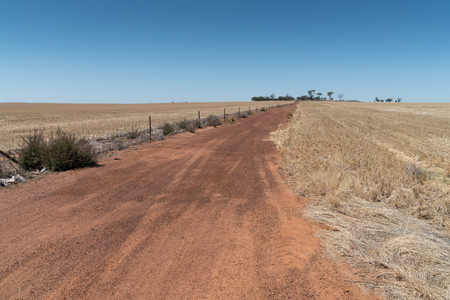 Typical unsealed road within the outback of Western Australia Stock Photo