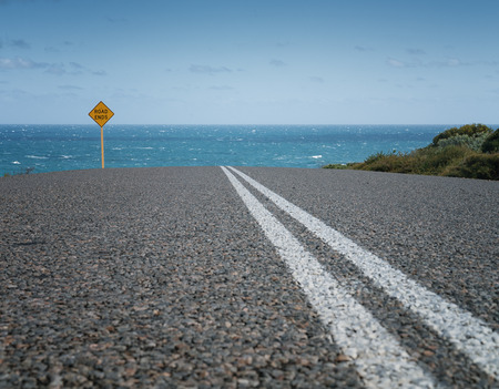 Road to the sea, outback of Western Australia Stock Photo