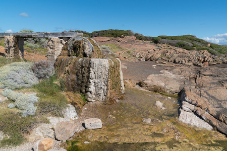 Old watermill on the coast of Cape Leeuwin, Western Australia Stock Photo