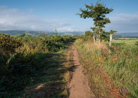 Camino de Santiago trail between Grandas de Salime and Fonsagrada, Asturias, Spain