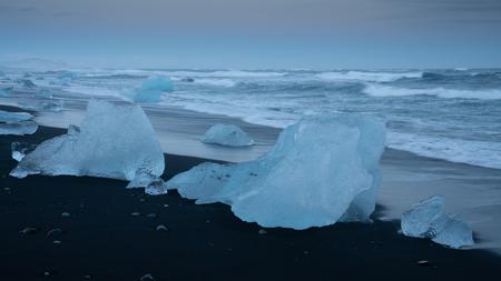 Iceberg at Diamond Beach Joekulsarlon, Iceland