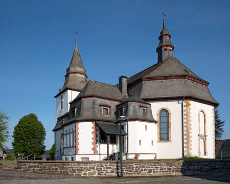 Parish church of Winterberg with blue clear sky, Sauerland, Germany