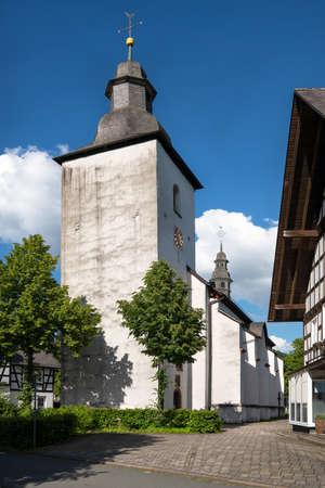 Parish church of the Sauerland village Oberkirchen, Schmallenberg, Germany