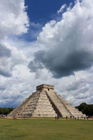 kukulkan: Piramide de kukulkan, El castillo, Stock Photo