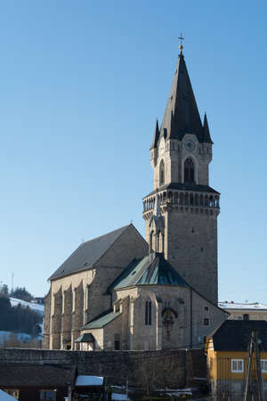 godliness: significant late Gothic church in Upper Austria - Austria Stock Photo