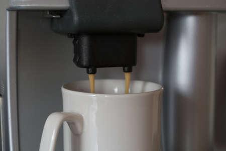 percolate: Coffee is prepared Stock Photo