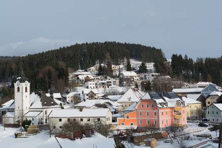 countrified: Community Vorderweissenbach snowy in winter - Austria Stock Photo