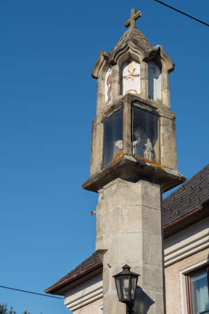 godliness: small religious monument - Stock image - the municipality Haslach Stock Photo