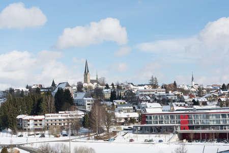 sanitarium: Spa town of Bad Leonfelden in winter in the sunshine