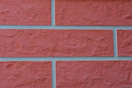 Closeup of a brick wall pattern