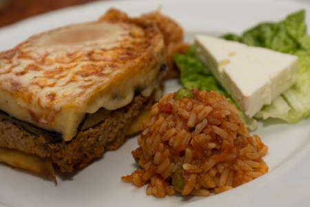 appetising: Moussaka delicious served on plate
