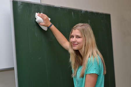 deletes: Smiling deletes student chalkboards