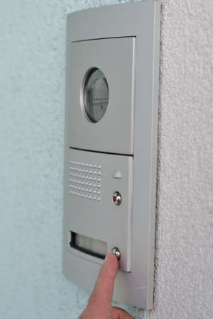 interphone: Door Phone with Camera Stock Photo