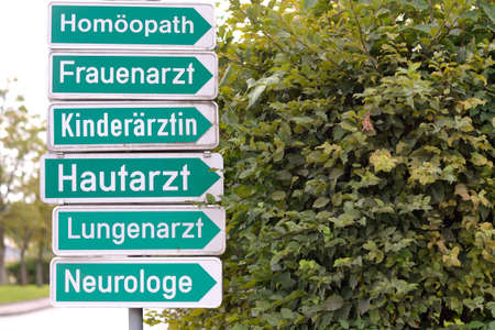 homeopath: Orientation - signs to different specialists