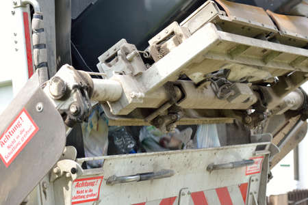 emptied: Refuse collection collects household waste and emptied rubbish bins