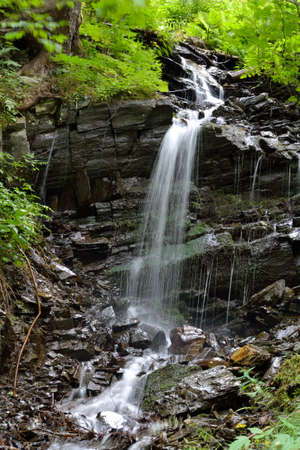 runnel: natural course of a creek with waterfall