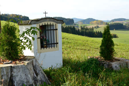 crux: small chapel at an idyllic place in nature