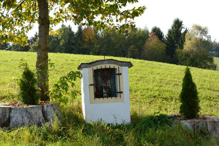 totaled: small chapel in the meadow invites to prayer