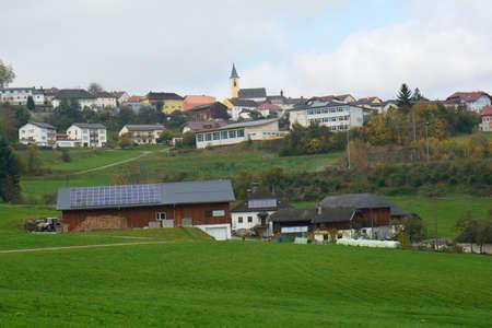 a rural community: Views of the rural community Peilstein - austria Stock Photo
