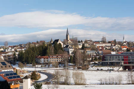 upper austria: Winter view of the town of Bad Leonfelden in Upper Austria