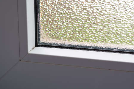wetness: Moisture and mold in window by poor ventilation