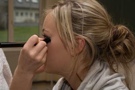 tweeny: Make-up artist and stylist makeup Teenagers Stock Photo