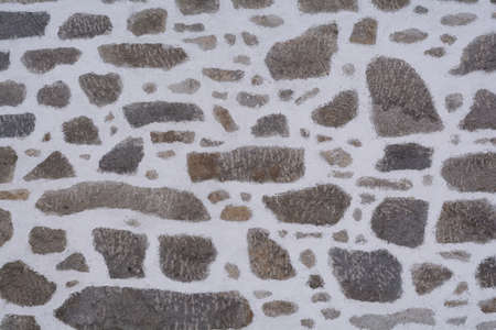 barn barnyard: Detail of a stone wall of an old farmhouse - Copy Space