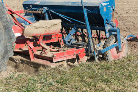 agricultural engineering: Sowing the field in use
