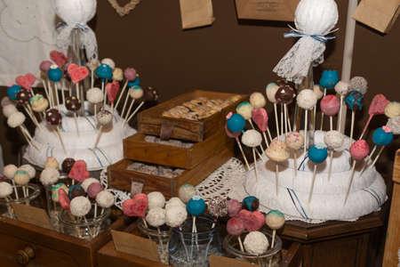 cake pops: Variety of decorative Cake Pops Stock Photo
