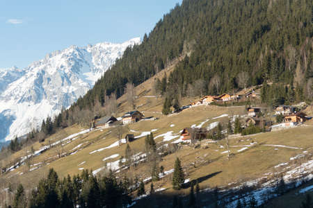 holiday destination: Tourism and holiday destination Ramsau seen from the sunny side Stock Photo