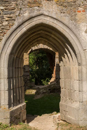 mediaeval: Archway in the Gothic style of mediaeval Castle Schaumberg - Austria