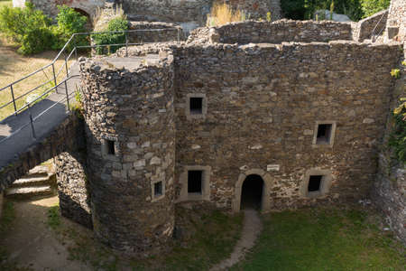 middle ages: Castle ruin Schaumberg from the Middle Ages - Austria Stock Photo
