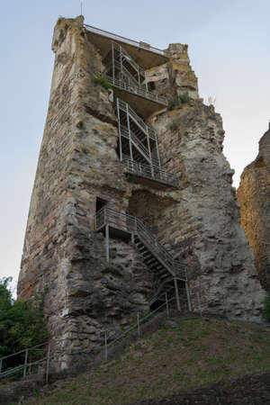12th century: Observation tower of the medieval knights castle Schaunberg - Austria