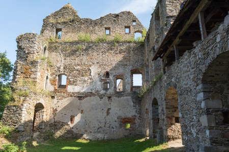mediaeval: Detail of the mediaeval Castle Schaumberg - Austria