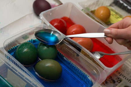 differently: Easter eggs are colored differently