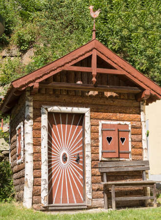country house style: small garden house in country style
