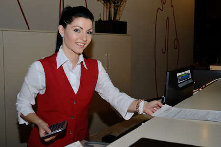 Receptionist transfers account created