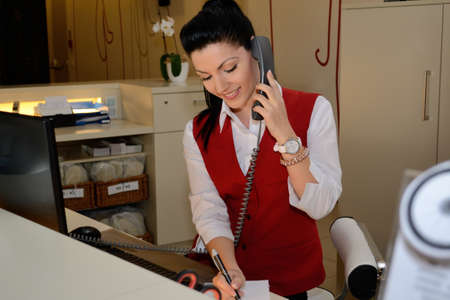 Receptionist phoned and does it notes