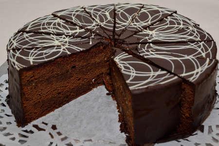 calorie rich food: traditional Viennese Sachertorte