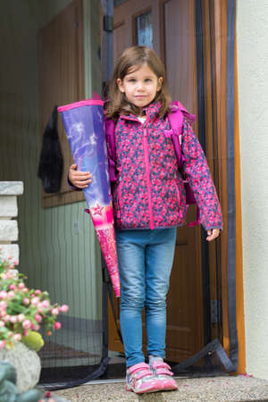 compulsory: Child is on the way to school