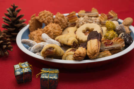 bickie: tasty selection of Christmas cookies