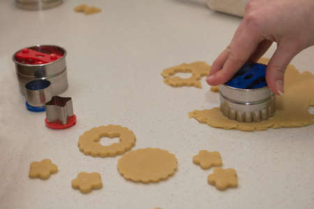 gouged: Christmas cookies are gouged