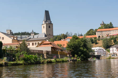 marys: Rosenberg with St. Marys Church and Castle Rosenberg in Czech Republic