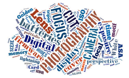 tagcloud: Tagcloud about Digital Photography Stock Photo