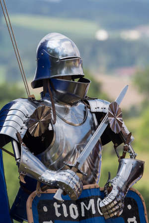middle ages: A Platemail as used in the Middle Ages as a protective garment of the knight