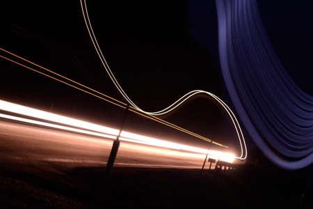 lightbeam: Gleam of cars in the night traffic - Long Exposure